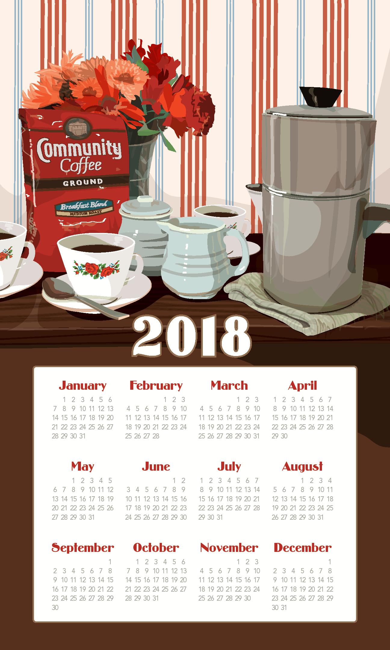 calendar towel