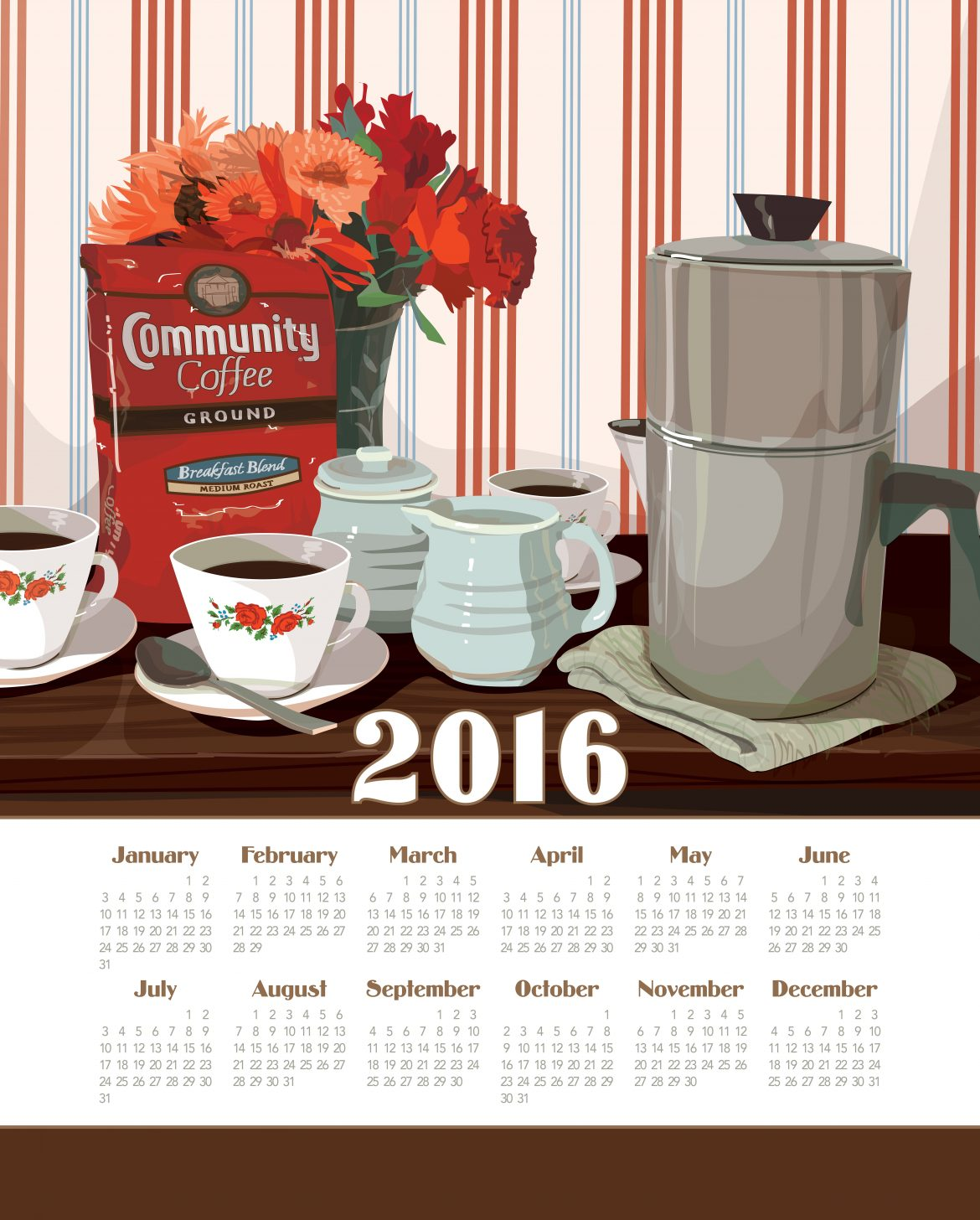 richard creative shreveport calendar towel